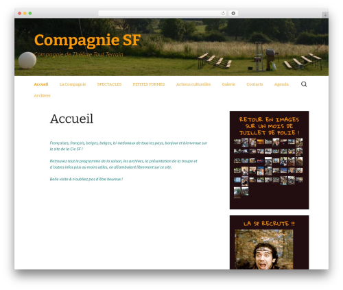WordPress theme Twenty Thirteen - sfcompagnie.com