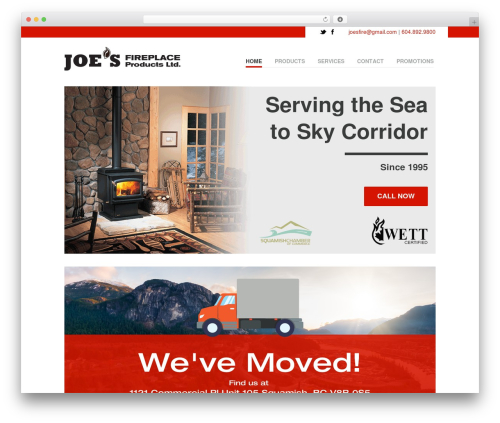WordPress website template Vanguard (shared on wplocker.com) - seatoskyfireplace.com