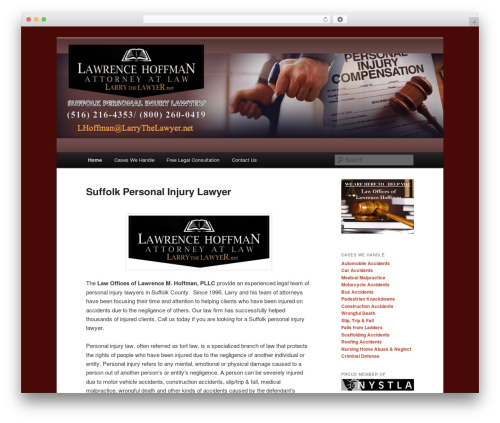 Best WordPress template Twenty Eleven - suffolkpersonalinjurylawyers.com