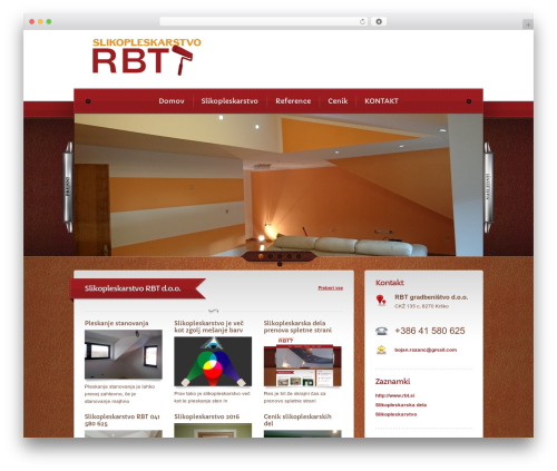 Bordeaux Premium Theme WordPress theme - slikopleskarstvo-rbt.si