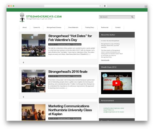 Convergence WordPress theme - strongerhead.com