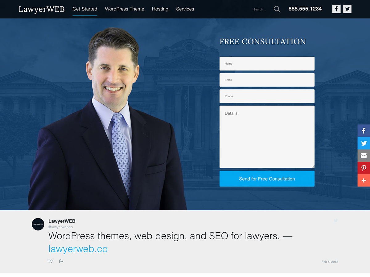 Lawyer WP WordPress shop theme