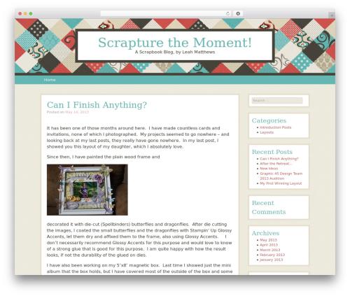 Patchwork WordPress blog theme - scrapturethemoment.com