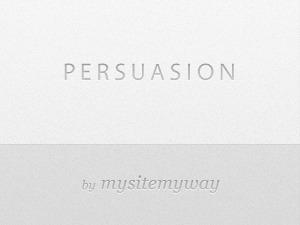 Persuasion template WordPress