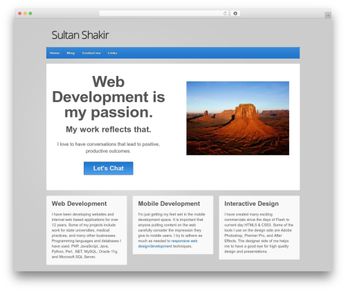 Responsive WordPress theme free download - sultanshakir.com