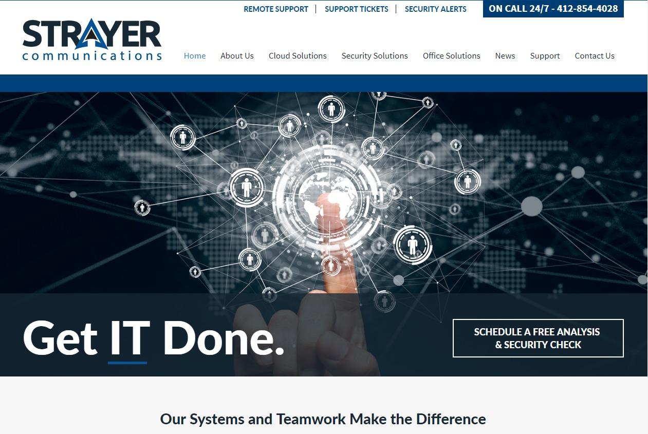 Strayer Communication WordPress theme