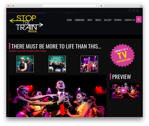 werock premium WordPress theme - stopthetrainmusical.com