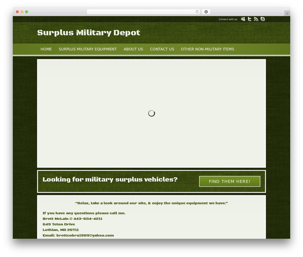 WordPress template Modular - surplusmilitarydepot.com