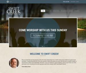 WordPress website template Swift Creek Baptist Church Theme