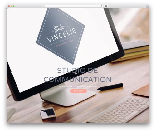 Best WordPress template Vela - studiovincelie.com