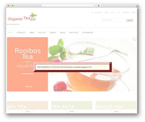 cherry WordPress theme - organicteaetc.com