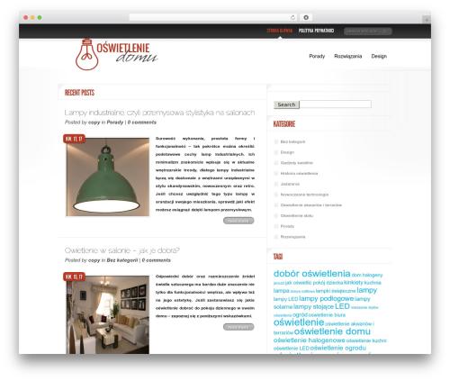 Delicate News WordPress theme design - oswietlenie-domu.com