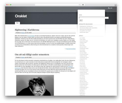 Fusion template WordPress - oraklet.nu