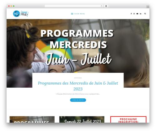 Laurel theme WordPress - ventdesiles.fr