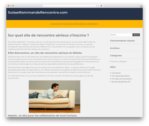 Movers Lite WordPress theme - suisseromanderencontre.com