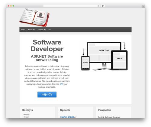 Responsive free WordPress theme - sagixweb.com