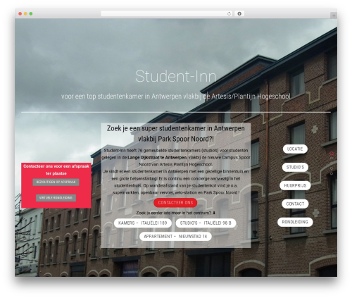 Themify Fullpane WordPress page template - student-inn.be