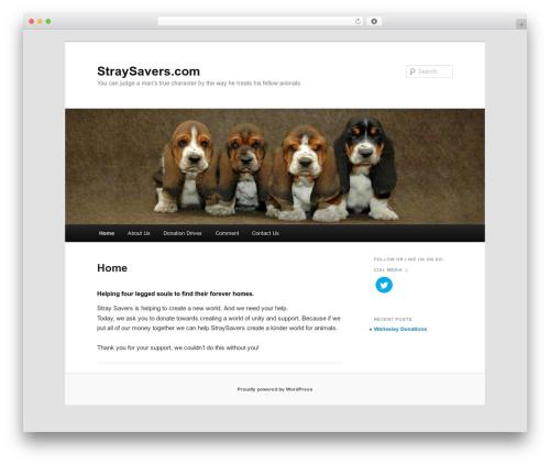 Twenty Eleven WordPress template free download - straysavers.com