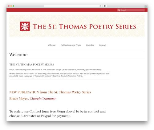 Virtue WordPress theme - stthomaspoetryseries.com