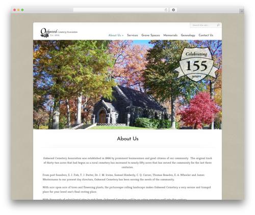 Chameleon WordPress website template - oakwoodcemeterypa.org