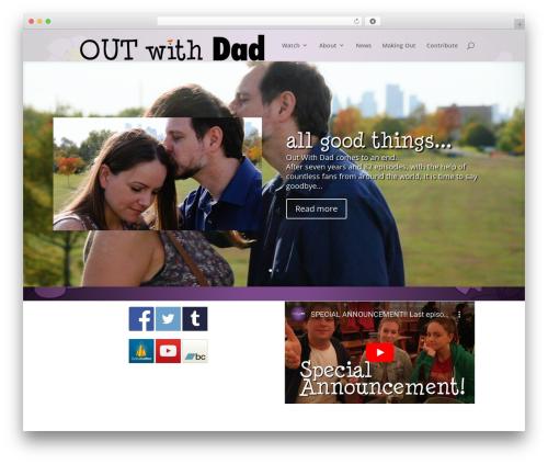 Divi WordPress website template - outwithdad.com