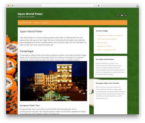 Hayes best WordPress template - openworldpoker.com