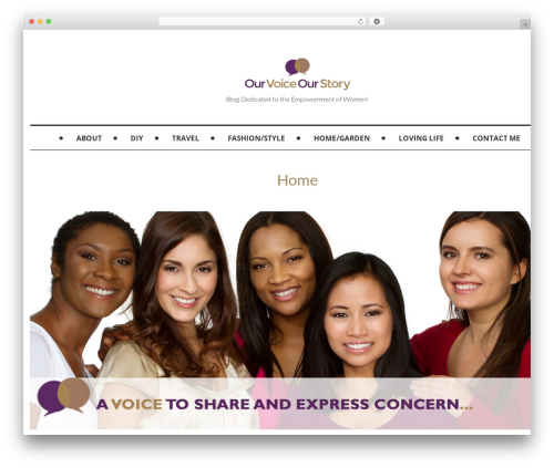 Mokka WordPress blog template - ourvoiceourstory.com