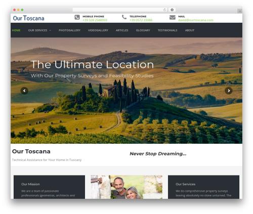 TheBuilt WordPress theme design - ourtoscana.com