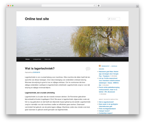 Twenty Eleven WordPress theme - onlinetestsite.nl