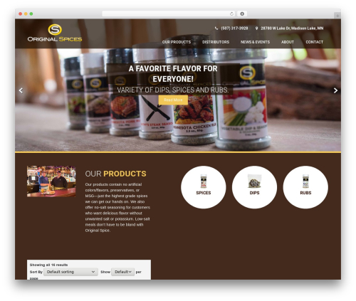 WP template Coffee Pro - originalspicesinc.com
