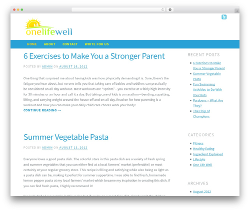 WP template Madison - onelifewell.com