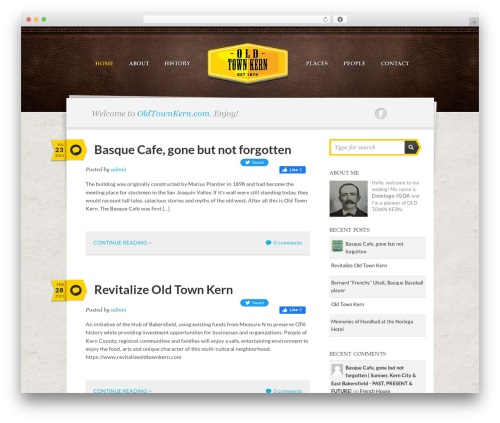 Writer Child WordPress theme - oldtownkern.com