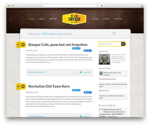 Writer Child WordPress theme - oldtownkern.com