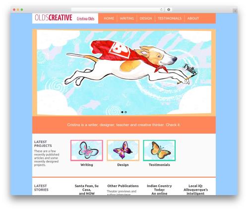 Yasmin WordPress website template - oldscreative.com