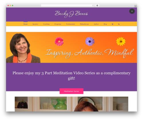 Avada WordPress page template - onenessoflife.com