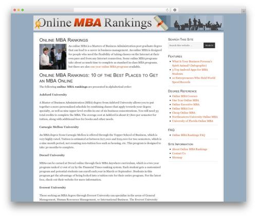 Best WordPress template Georgia Child Theme - onlinembarankings.info