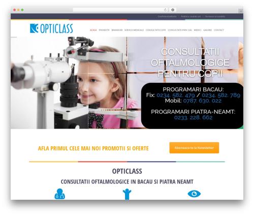Best WordPress template Healthandcare - opticlass.ro