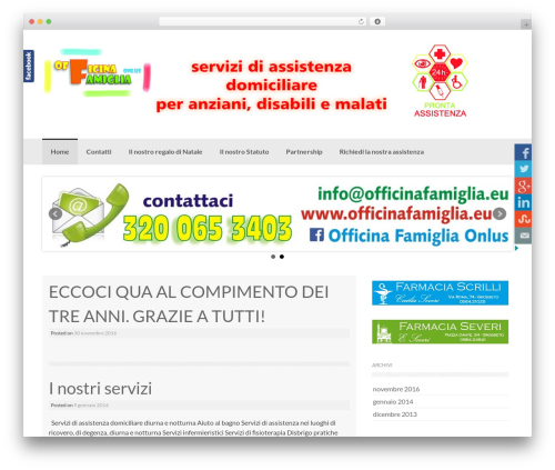 Coller template WordPress free - officinafamiglia.eu