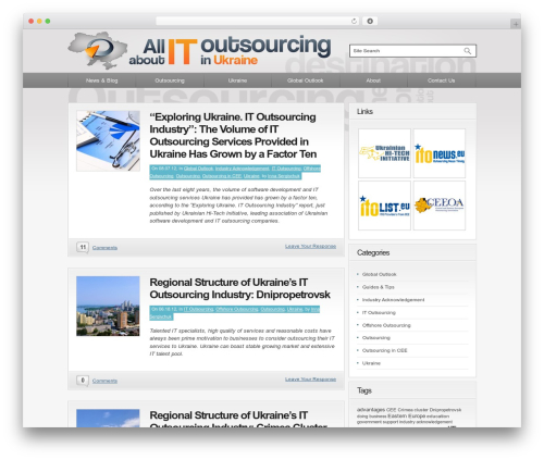 Convergence WordPress blog theme - outsourcing-ukraine.org