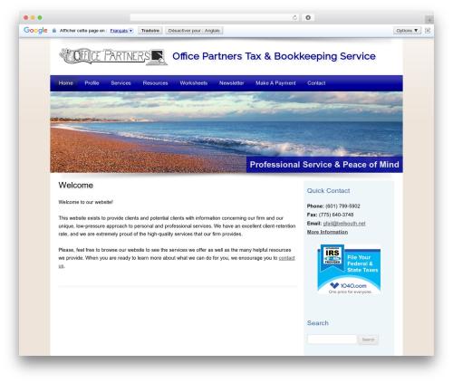 Customized WordPress template for business - officepartnerstax.com