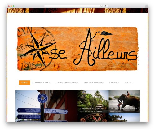 Entrance WordPress theme design - oseailleurs.com