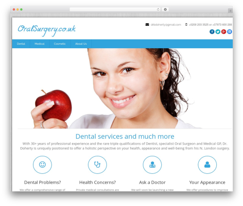 Health-Center-Pro medical WordPress theme - oralsurgery.co.uk