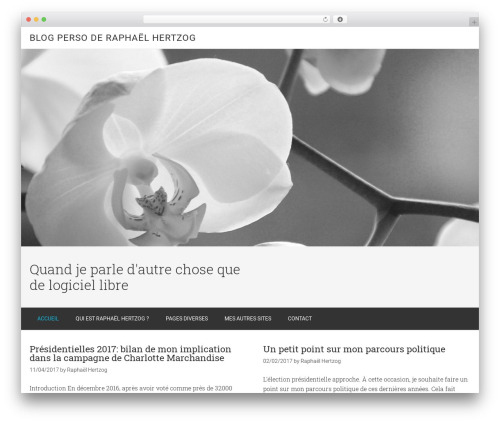 Minimum Pro WordPress theme - ouaza.com