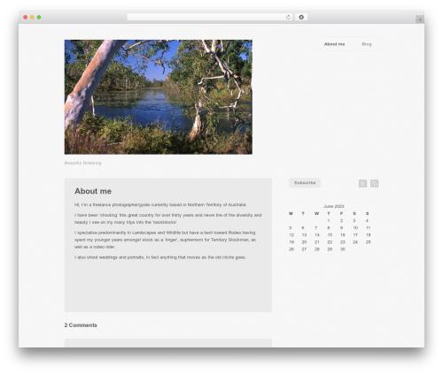Photography PRO theme WordPress - outbushphotography.com.au