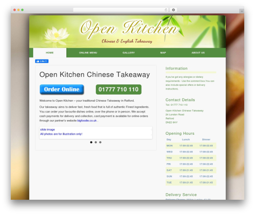 Pinboard-RES template WordPress - openkitchenchinese.co.uk