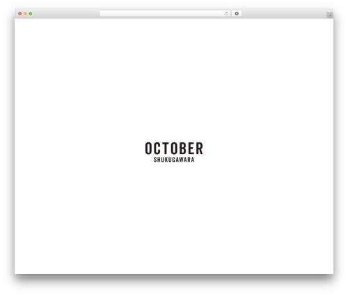 Template WordPress October - october-hair.com