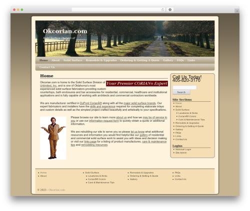 Theme WordPress Twenty Ten Weaver - okcorian.com