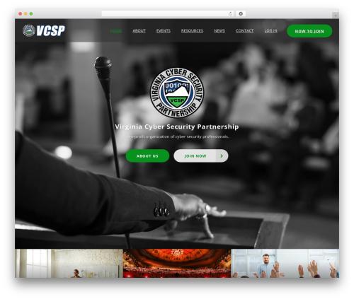 WordPress theme ConferPress - vacsp.com