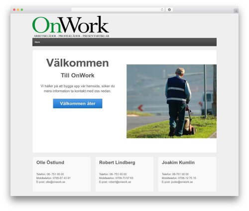 WordPress theme Responsive - onwork.se