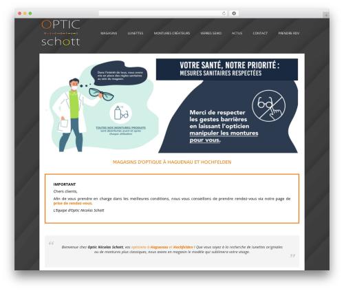 WP theme Auxane Opticiens - optic-n-schott.fr